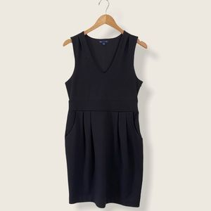 Black Gap V-Neck Dress with Pockets